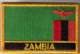 Zambia Embroidered Flag Patch, style 09.